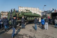 现代俄国装甲车 免版税库存照片