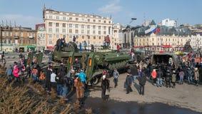 现代俄国装甲车 库存图片