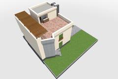 现代修造的3D 免版税库存照片
