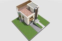 现代修造的3D 免版税库存图片