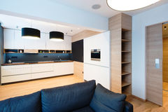 现代公寓内部  免版税库存图片
