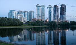 现代公寓在莫斯科 库存图片