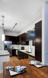 现代公寓的厨房 库存图片