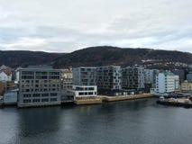 现代公寓,卑尔根,挪威 免版税库存图片