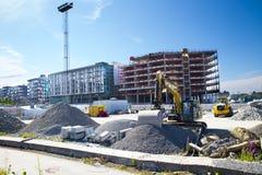 现代公寓建设中 免版税库存照片