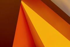 现代公开艺术设施的黄色抽象背景 图库摄影