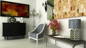 现代内部客厅 库存图片
