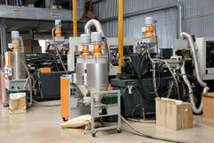 现代内部电子组分生产,零件warehou 免版税图库摄影
