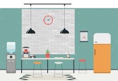 现代内部的厨房 也corel凹道例证向量 图库摄影