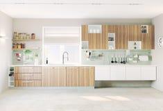 现代内部的厨房 免版税库存照片