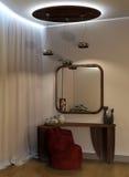 现代内部|客厅 免版税库存图片
