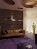 现代内部|客厅 免版税库存照片