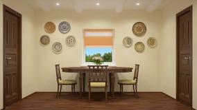 现代内部|客厅 图库摄影
