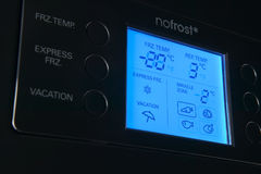 现代冰箱显示控制盘区 免版税库存图片