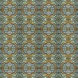 现代几何无缝的样式马赛克 免版税库存照片