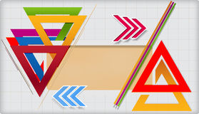 现代几何模板。 免版税图库摄影