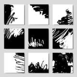 现代刷子传染媒介明信片模板 免版税库存照片