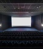 现代剧院的内部 在空白的白色s的前面图片 库存图片