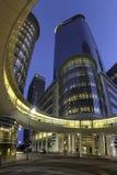 现代办公楼在休斯敦 免版税库存图片