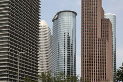 现代办公楼在休斯敦 库存图片