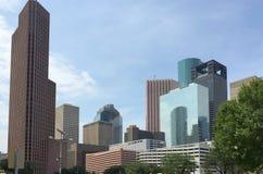 现代办公楼在街市休斯敦 免版税库存照片
