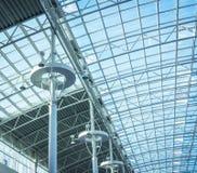现代办公楼玻璃屋顶 库存照片