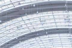现代办公楼玻璃屋顶 免版税库存图片