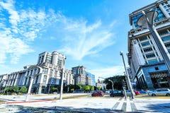 现代办公楼建筑学在布城,马来西亚 照片被采取了15/05/2017 图库摄影