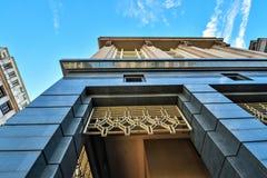 现代办公楼建筑学在布城,马来西亚 照片被采取了15/05/2017 免版税图库摄影