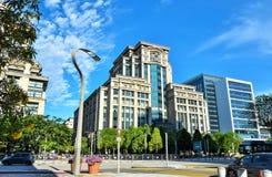 现代办公楼建筑学在布城,马来西亚 照片被采取了15/05/2017 免版税库存图片