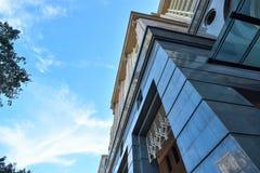 现代办公楼建筑学在布城,马来西亚 照片被采取了15/05/2017 免版税库存照片