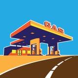 现代加油站 库存例证