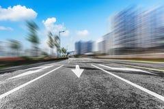 现代化城市道路的背景 库存照片