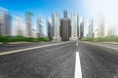 现代化城市道路的背景 图库摄影