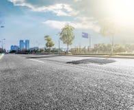 现代化城市道路的背景 库存图片
