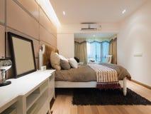 现代卧室 库存图片