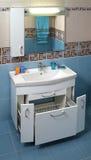 现代卫生间内部 库存照片