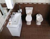 现代卫生间内部 免版税库存图片