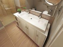 现代卫生间的设计 库存照片