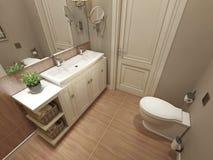 现代卫生间的设计 免版税库存图片