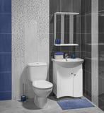 现代卫生间豪华内部有水槽的 库存照片