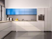 现代厨房内部的例证  库存照片
