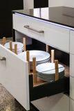 现代厨房凹道 免版税库存图片