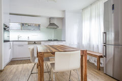 现代厨房室内设计建筑学 图库摄影