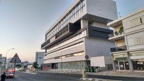 现代和印象深刻的大厦在尼科西亚 库存照片