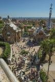 现代和历史的建筑学在巴塞罗那 库存照片