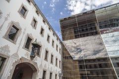 现代和古老建筑学, CCCB-Centro de Cultura Contemporania de巴塞罗那,艺术中心 图库摄影