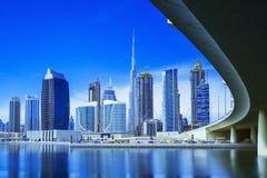 现代和豪华迪拜市,阿联酋美好的全景  图库摄影