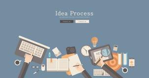 现代和经典设计激发灵感过程概念 免版税库存图片