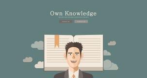 现代和经典设计知识概念例证 免版税库存图片